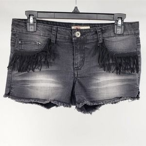 l.e.i. Ashley Low Rise Tassel Pocket Shorts Junior